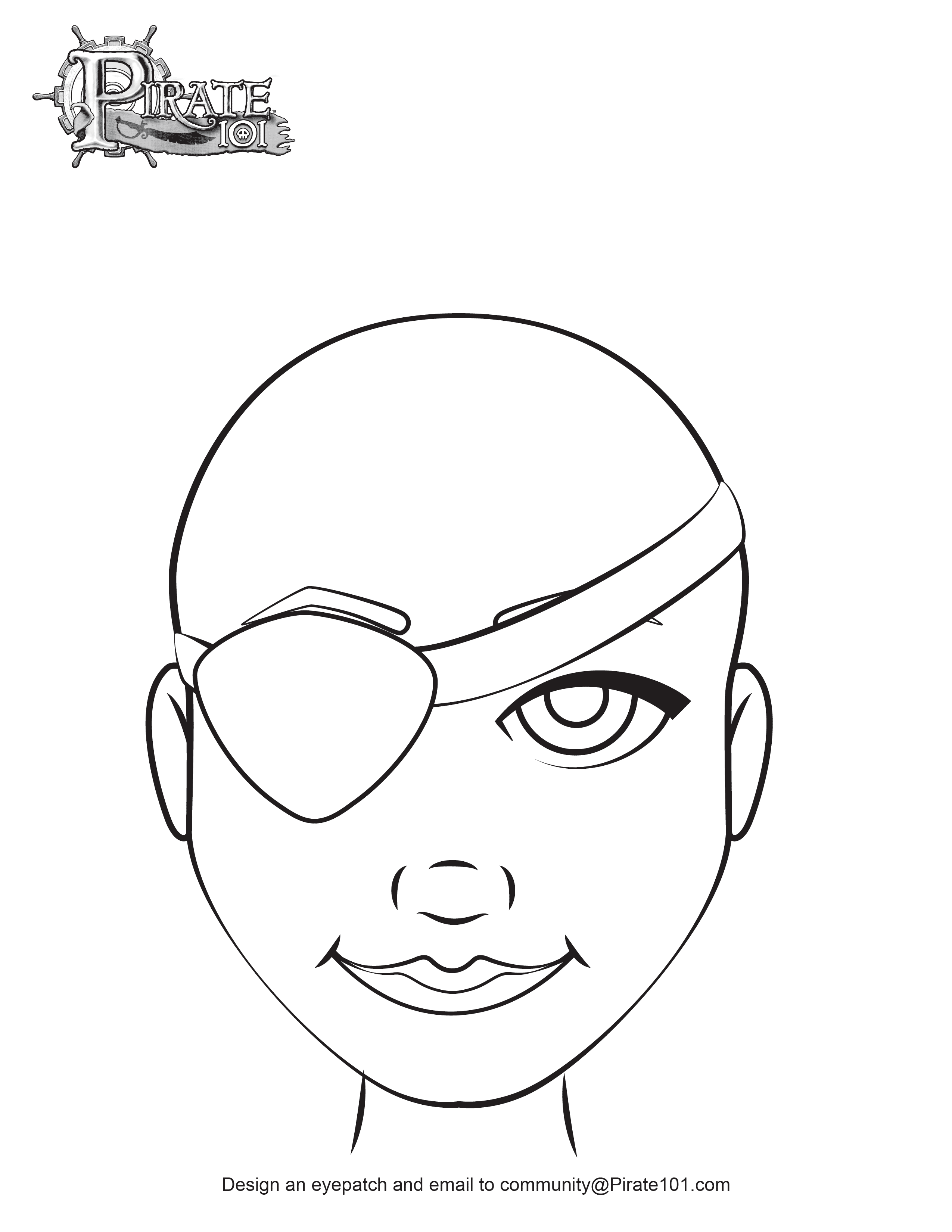 Girl Pirate Eye Patch Template