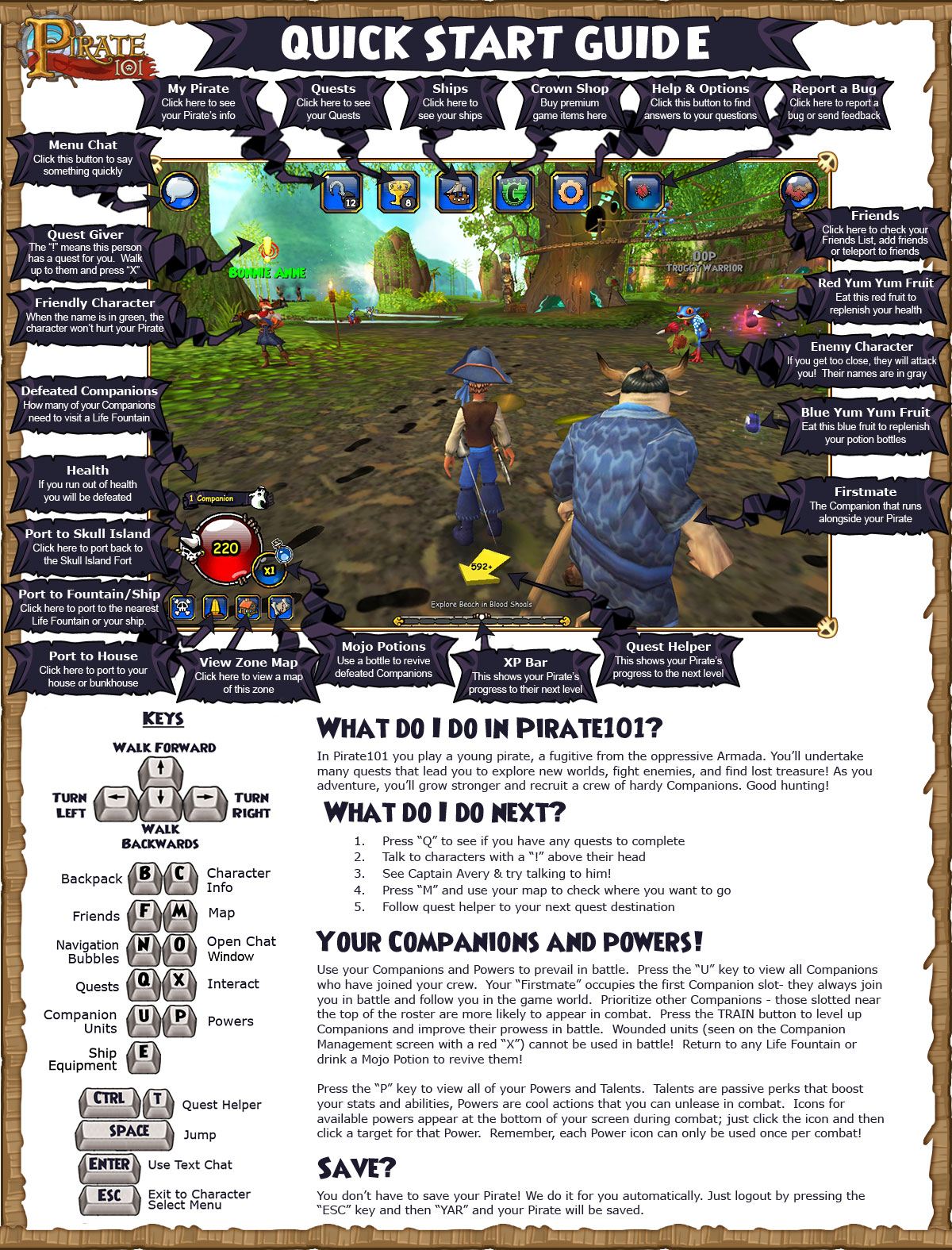 Frequently Asked Questions | Pirate101 Free Online Game