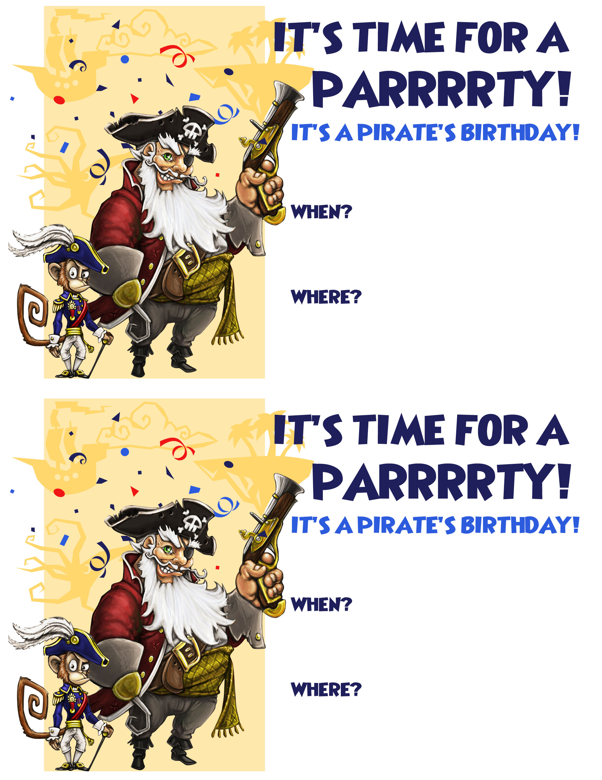 Create a Pirate Birthday Party – Free Pirate Party Invitations