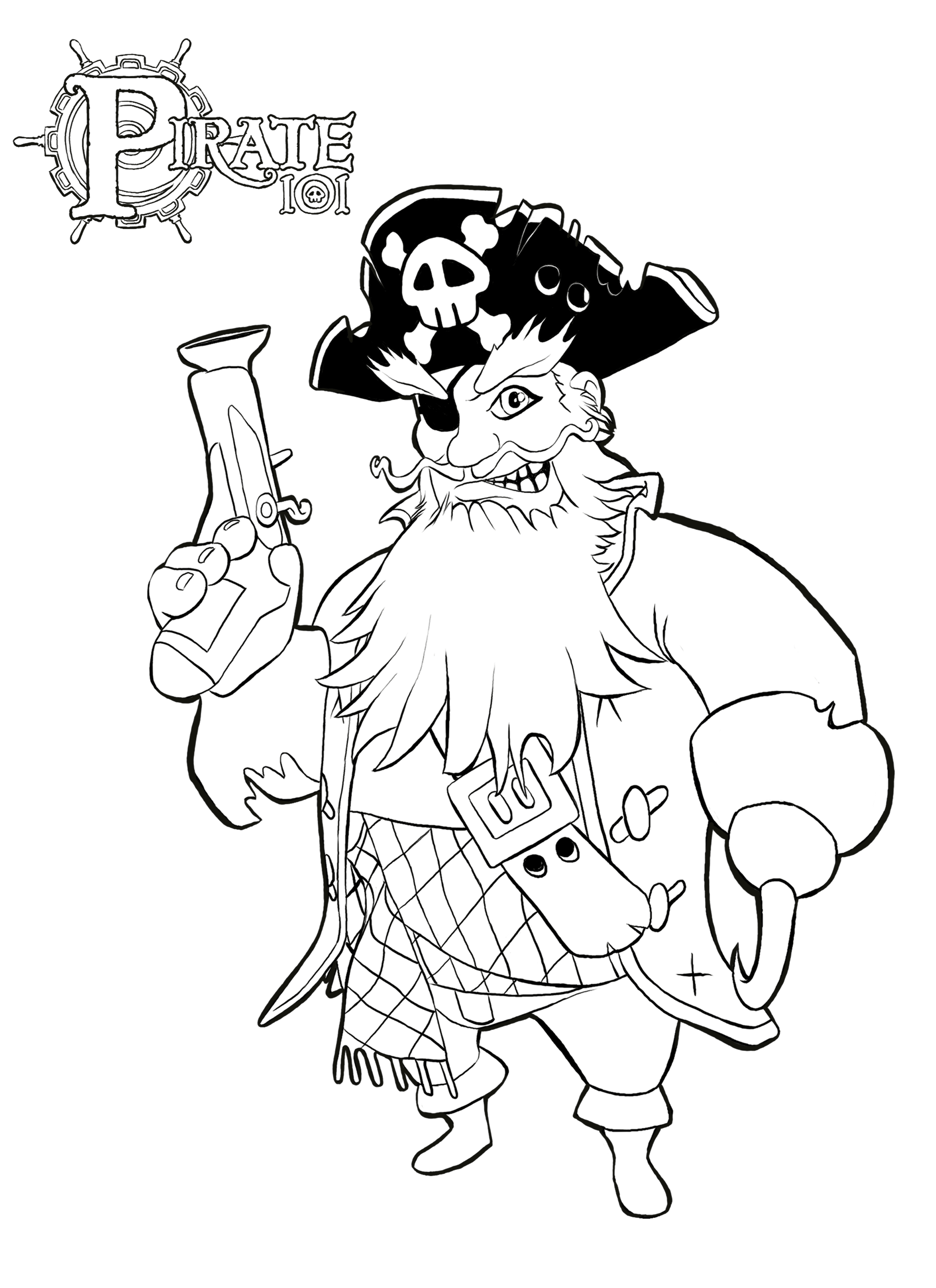 Pirate colouring pages to print - Download Boochbeard Coloring Page