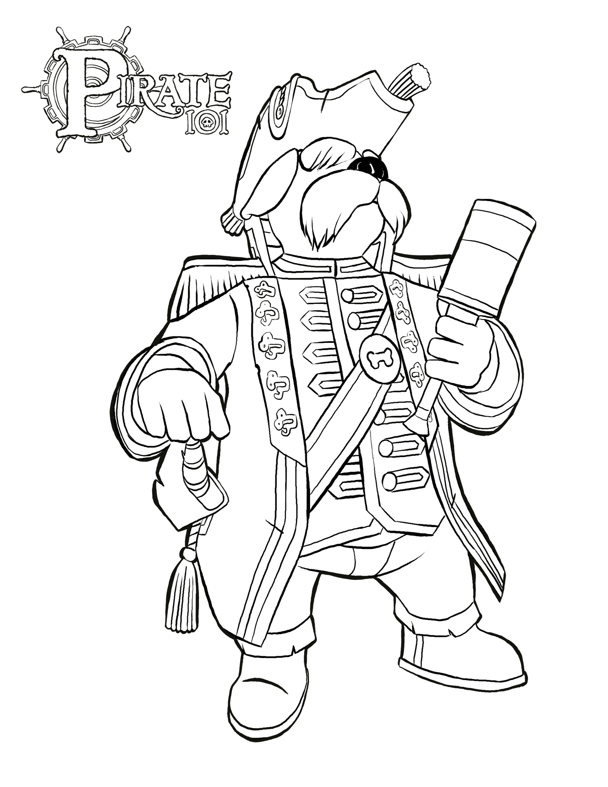 Pirate colouring pages to print - Download The Commodore Coloring Page