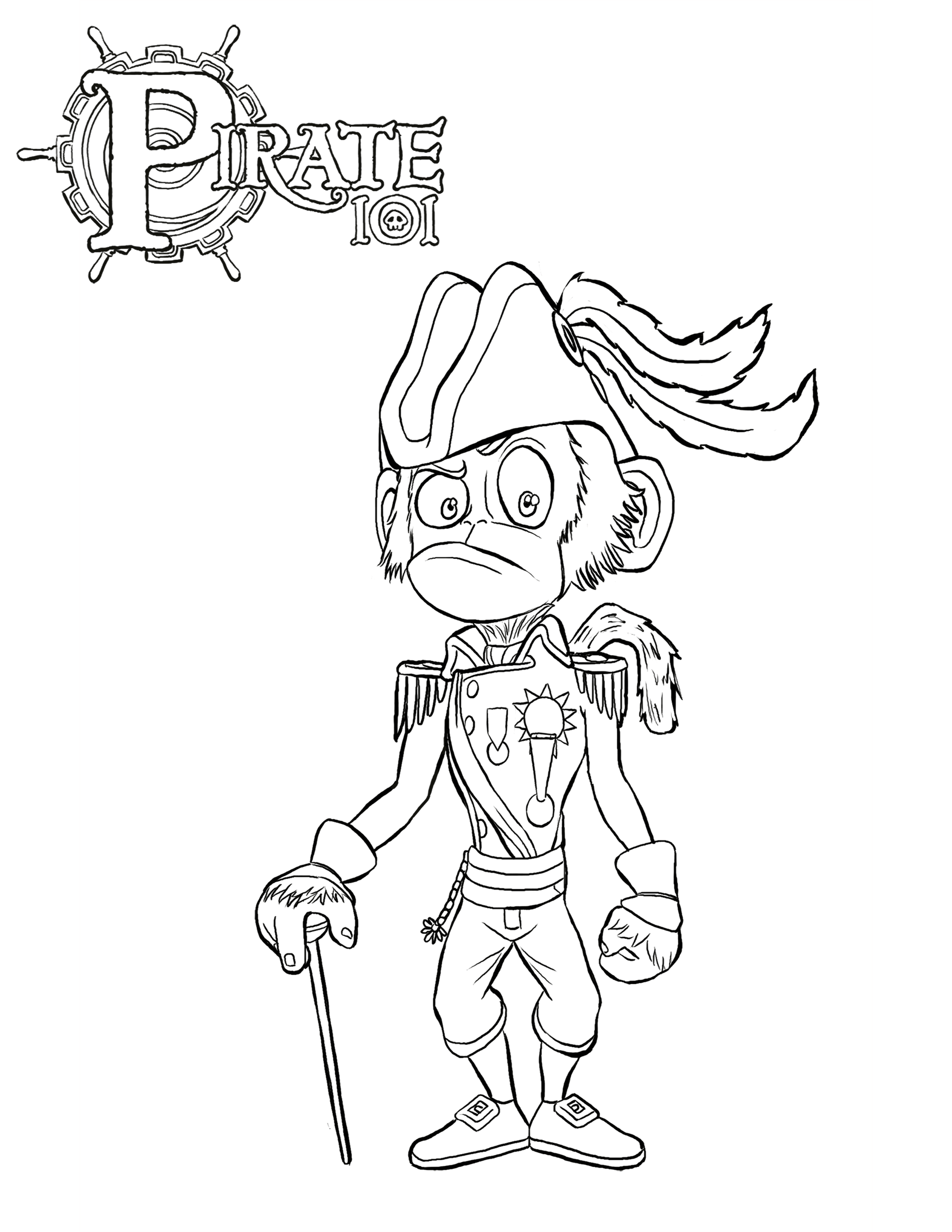 Pirate colouring pages to print - Download Mr Gandry Coloring Page