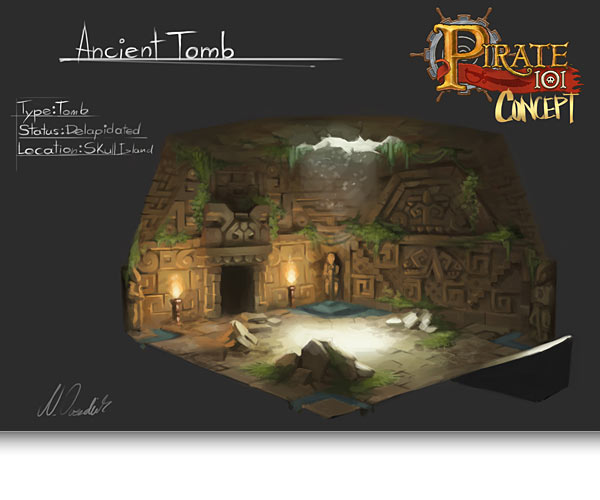 Anicent Tomb in Skull Island