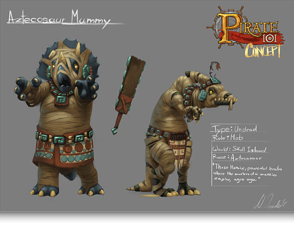 Aztecosaur Mummy
