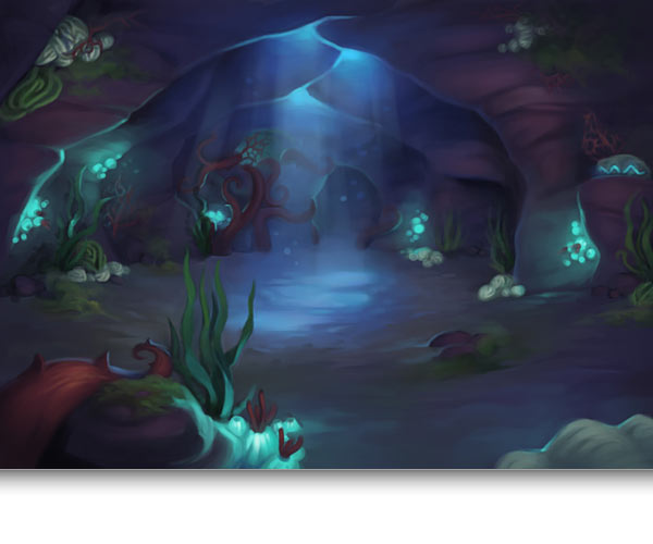 Flooded Cave Concept Art