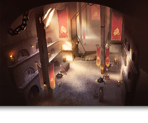 Great Hall Monquista Concept Art