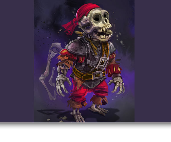 Undead Monkey Pirate Concept Art