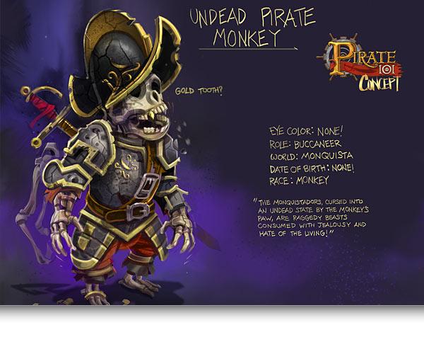 Undead Pirate Monkey Concept Art