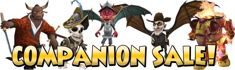 Companion Sale | Pirate101 Free Online Game