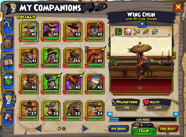 companions pirate101 free online game. Black Bedroom Furniture Sets. Home Design Ideas