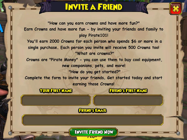 Invite a Friend | Pirate101 Free Online Game