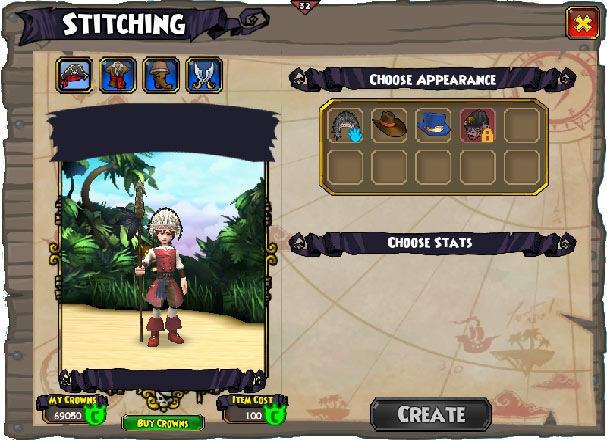 Stitching | Pirate101 Free Online Game