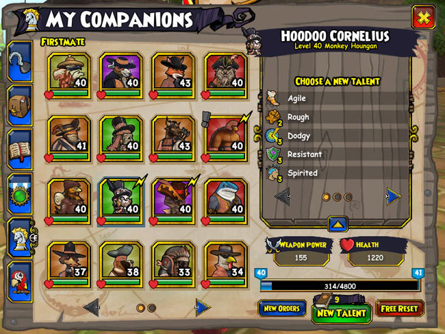 Talents and Abilities | Pirate101 Free Online Game