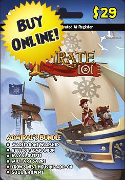 Admiral's Bundle Prepaid Game Card | Pirate101 Free Online Game