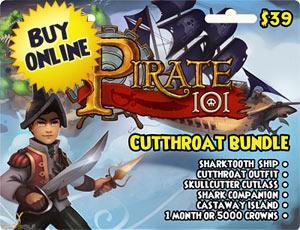 Prepaid Game Cards Pirate101 Pirate Online Game